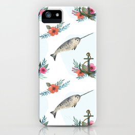 Summertime Nautical Narwhal iPhone Case