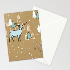 Scandinavian reindeer Stationery Cards