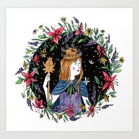 Flower Queen Art Print