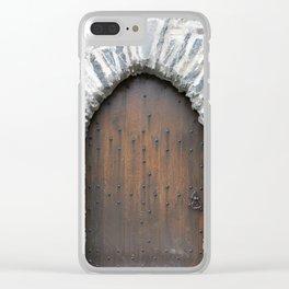 Castle Door Clear iPhone Case