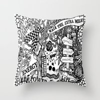 boxing Throw Pillows featuring Boxing by JessicArt