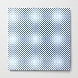 Palace Blue Polka Dots Metal Print