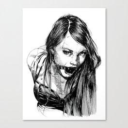 Ball Gagged Lady Portrait ©Yury Fadeev Canvas Print