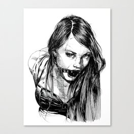 Ball Gagged Lady Portrait ©Yury Fadeev Canvas Print