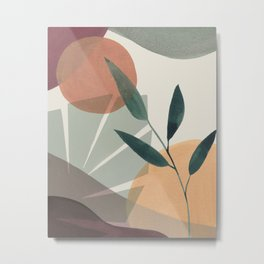 Tropical Leaves Abstract I Metal Print