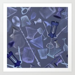 Barstool Blues Art Print