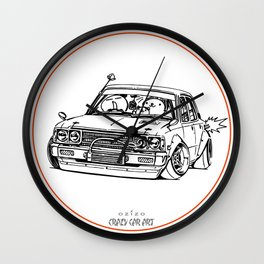 Crazy Car Art 0224 Wall Clock