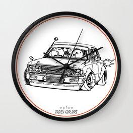 Crazy Car Art 0224 Wall Clock