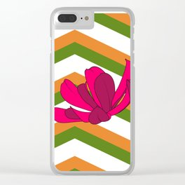 Chevron & Flower #1 Clear iPhone Case