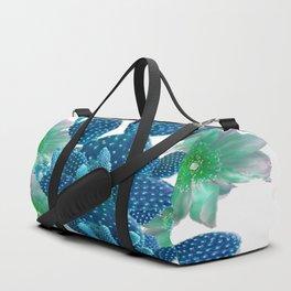 SURREAL BLUE PEAR CACTUS & FLOWERS DESERT ART Duffle Bag