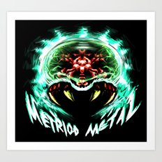 Metroid Metal: Angry Baby Art Print