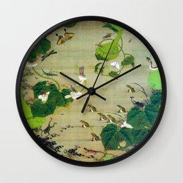 12,000pixel-500dpi - Ito Jakuchu - Pond insects - Digital Remastered Edition Wall Clock