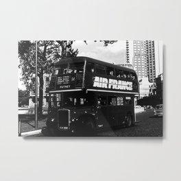 Retro UK  England London double decker bus 1970 Metal Print