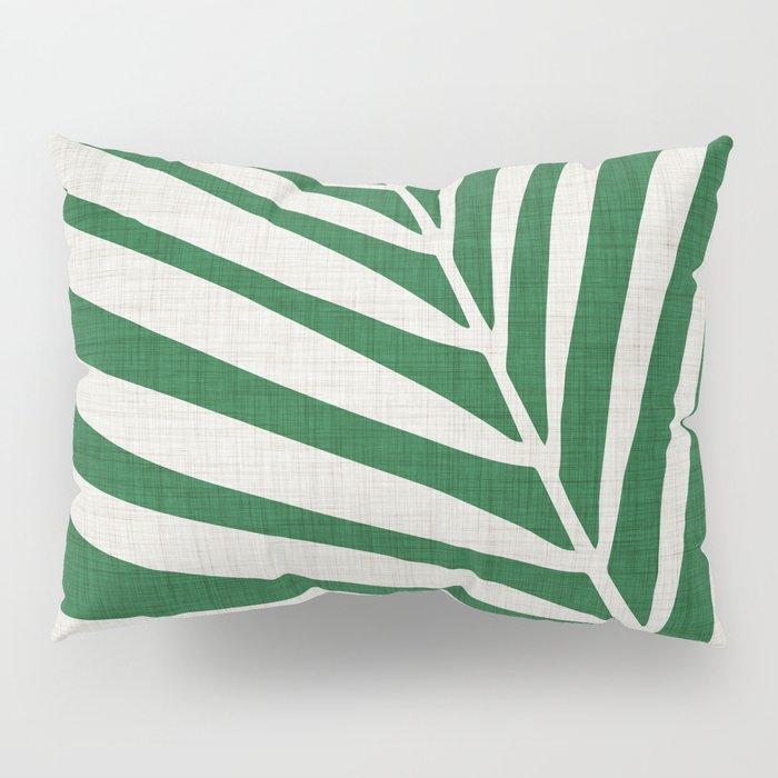 Minimalist Palm Leaf Pillow Sham