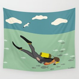 Going Deep Wall Tapestry
