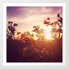Riverside Weeds - Square Art Print