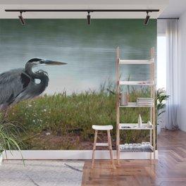 Blue Heron 01 Wall Mural