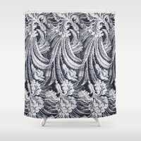 lace Shower Curtains featuring WHITE LACE by BellagioVista