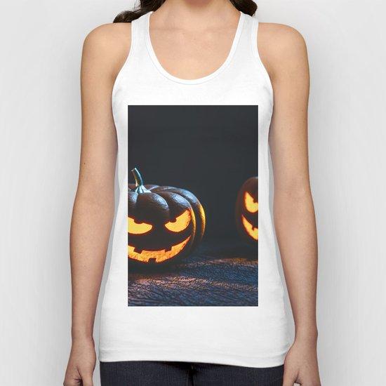 Halloween Pumpkin Lantern Unisex Tank Top