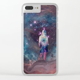 Meditation in the Stars Clear iPhone Case