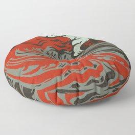 Lava Meets The Sea Floor Pillow