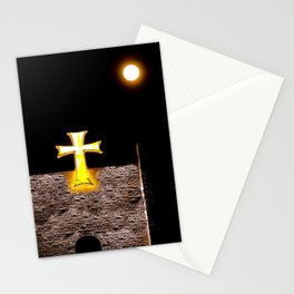 The Full Moon and the Maltese Cross Stationery Cards
