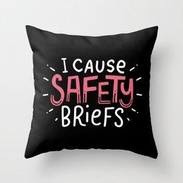 I Cause Safety Briefs For Paramedics Throw Pillow