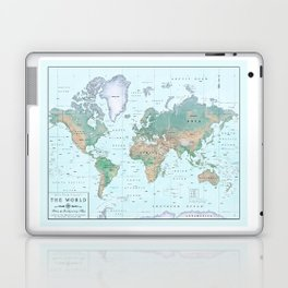 The World [Atlas] Shaded Relief Map Laptop & iPad Skin