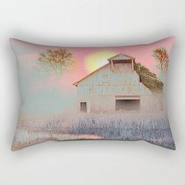 OLD BARN IN THE FOG Rectangular Pillow