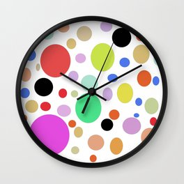 Watercolor abstract colorfull Wall Clock