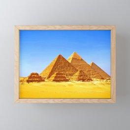 The Pyramids At Giza Framed Mini Art Print