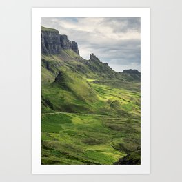 View of the Quiraing Art Print