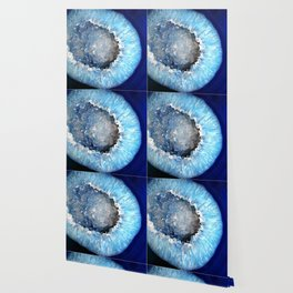 Blue Crystal Geode Wallpaper