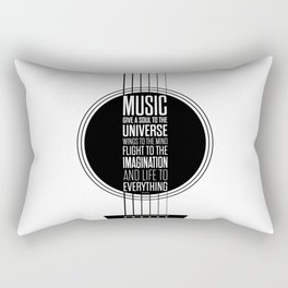 Lab No. 4 - Plato philosopher Inspirational Music Quotes  poster Rectangular Pillow