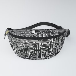 Circuit Board on Black Fanny Pack