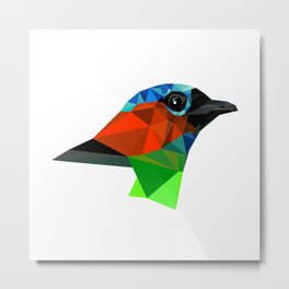 Bird art Saira Nature Animals Geometric Metal Print