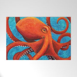 Holding On - Octopus Welcome Mat