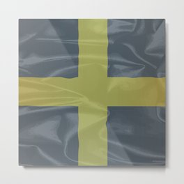Silk Flag of Saint David Of Wales Metal Print