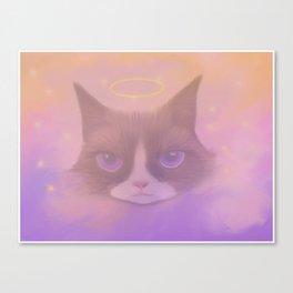 Cosmic Cat - Angel Canvas Print