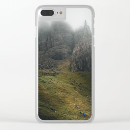 Mountain Fortress Clear iPhone Case
