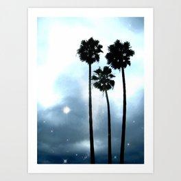 Twilight Palm Trees Art Print