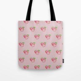 Color pencil Strawberry Tote Bag