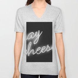 Say Cheese (Black and White) Unisex V-Neck