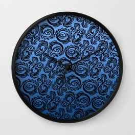 Scandinavian Peacock ~ Blue 01 Wall Clock
