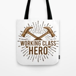 Working Class Hero Retro Worker Gift For Mechanic Tote Bag
