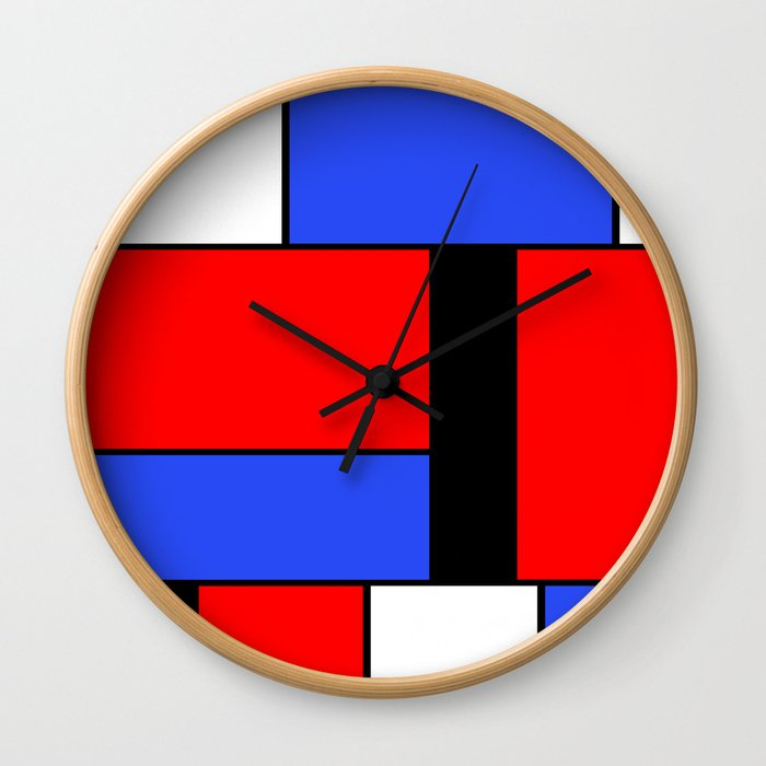 Mondrian #51 Wall Clock
