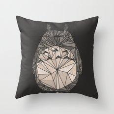 totoro wireframe Throw Pillow