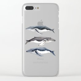 Humpback whales Clear iPhone Case