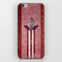 poloplayer red iPhone Skin