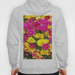 FUCHSIA GARDEN FLOWERS YELLOW COREOPSIS Hoody